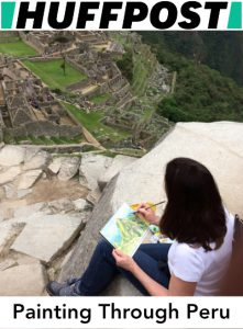 Featured Huffpost Article: Painting through Peru